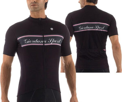Giordana Sport Signature Jersey - Black- Pink - Classic Cycling