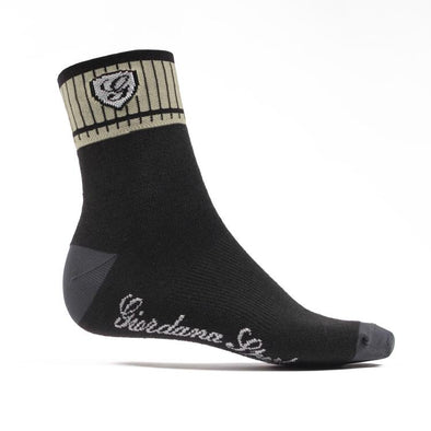 Giordana Sport Socks - Black Beige - Classic Cycling
