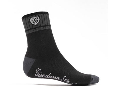 Giordana Sport Socks - Black-Gray - Classic Cycling