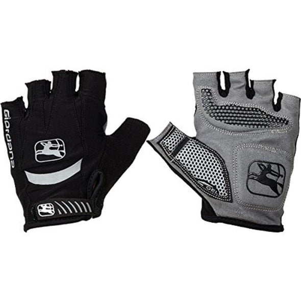 Giordana Strada Cycling Gel Gloves - Black - Classic Cycling