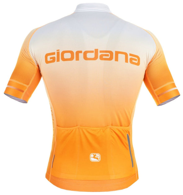 "Giordana Trade ""Glow"" FR-C Short Sleeve Jersey  - Orange - Classic Cycling"