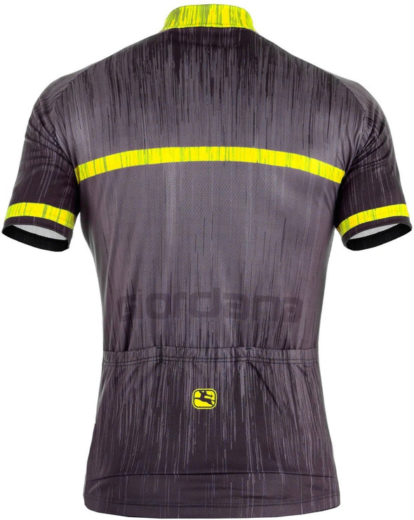 "Giordana Trade ""Inox"" Vero Short Sleeve Jersey - Black-Fluo - Classic Cycling"