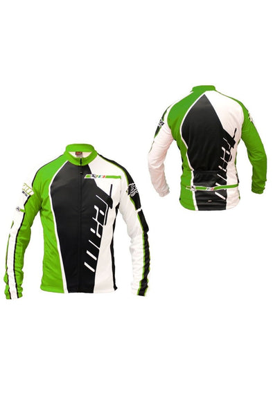 Giordana Trade Long Sleeve Winter Jersey Green - Classic Cycling