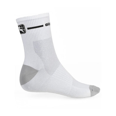 Giordana Trade Mid Sock - White - Black - Classic Cycling