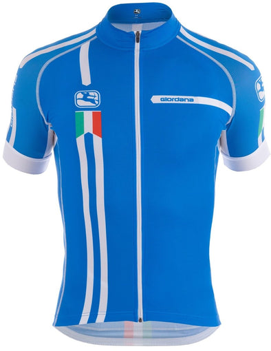 "Giordana Trade ""Squadra"" Scatto Short Sleeve Jersey - Blue - Classic Cycling"