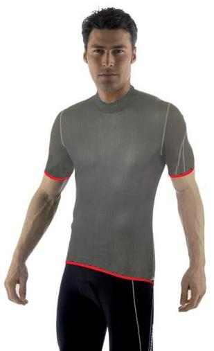Giordana Wind Proof Base Layer Gray Short Sleeve - Classic Cycling