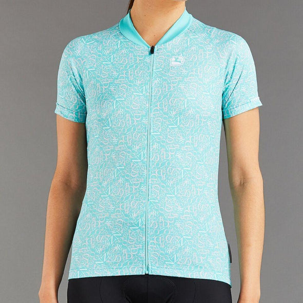 Giordana Women's Arts Cycling Jersey - Mint- Ballerina Pink- White - Classic Cycling