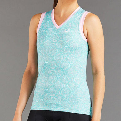 Giordana Women's Arts Sleeveless Jersey - Mint- Ballerina Pink- White - Classic Cycling