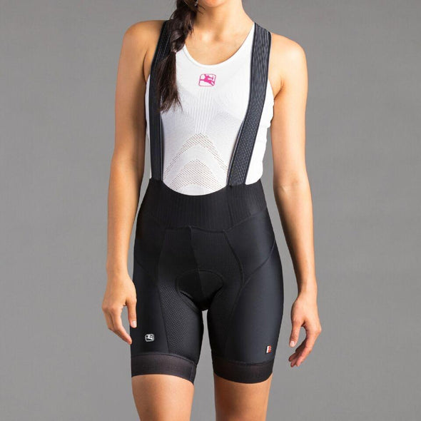 Giordana Women's FR-C Pro Bib Short - Black (5 cm Shorter Leg Length) - Classic Cycling