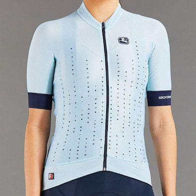 Giordana Women's FR-C Pro Moda A to G Cycling Jersey - Light Blue - Classic Cycling
