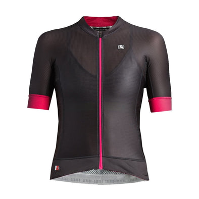 Giordana Women's FR-C PRO Short Sleeve Jersey - Black-Pink - Classic Cycling