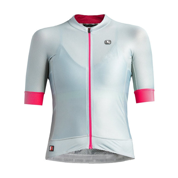 Giordana Women's FR-C PRO Short Sleeve Jersey - Grey-Pink - Classic Cycling