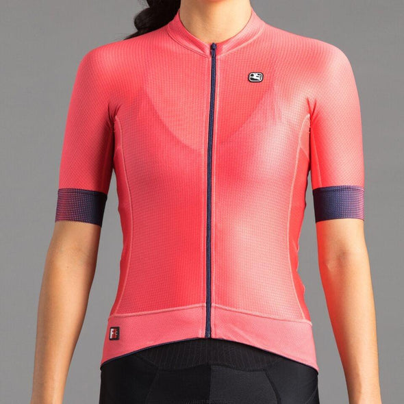 Giordana Women's FR-C PRO Short Sleeve Jersey - Navy with Ballerina Pink accents - Classic Cycling