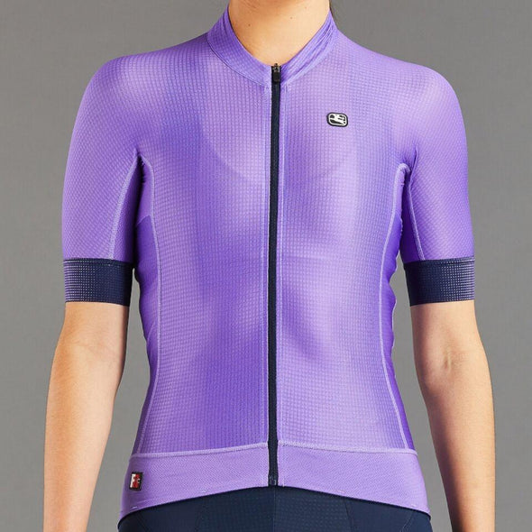 Giordana Women's FR-C PRO Short Sleeve Jersey - UltraViolet Purple w- Navy accents - Classic Cycling