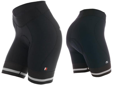 Giordana Women's FR-C Shorts Black White - Classic Cycling