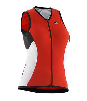Giordana Womens FRC Sleeveless Jersey - Red - Classic Cycling