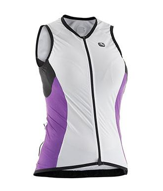 Giordana Womens FRC Sleeveless Jersey - White-Purple - Classic Cycling
