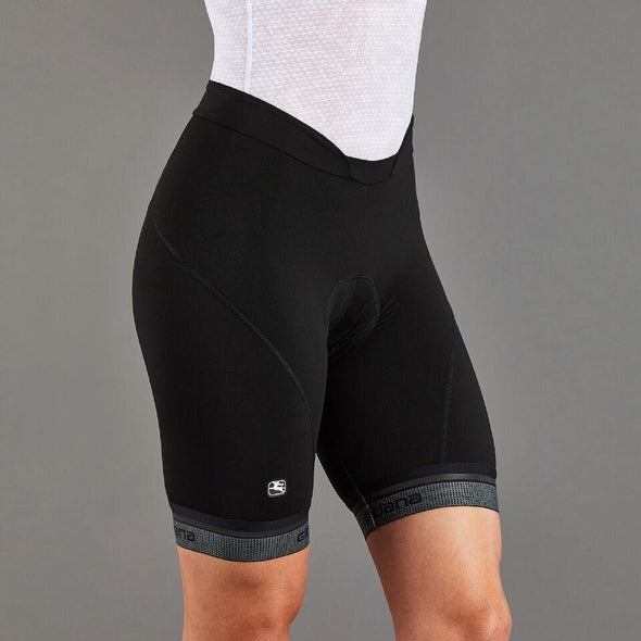 Giordana Women's Fusion Short - Black with reflective leg band - Classic Cycling