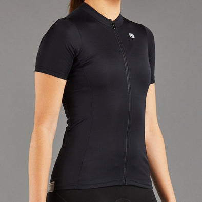 Giordana Women's Fusion Short Sleeve Jersey - Full Black - Classic Cycling
