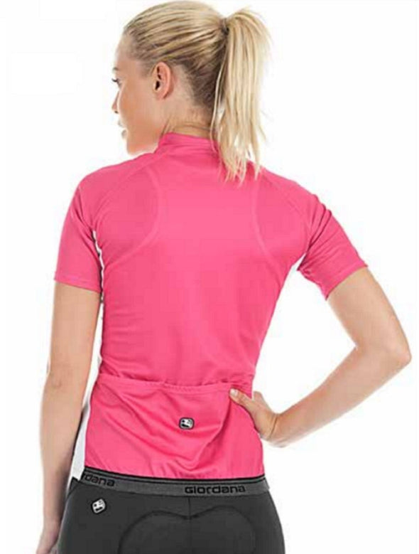 Giordana Women's Fusion Short Sleeve Jersey - Pink-White - Classic Cycling