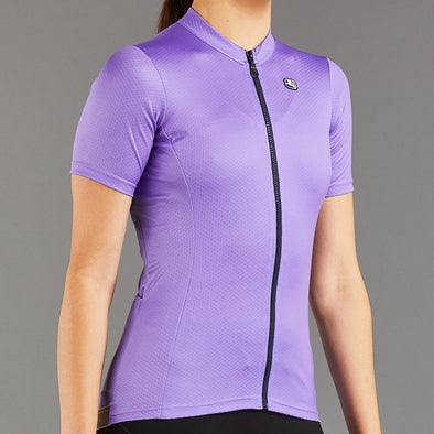 Giordana Women's Fusion Short Sleeve Jersey - Purple with Blue accents - Classic Cycling