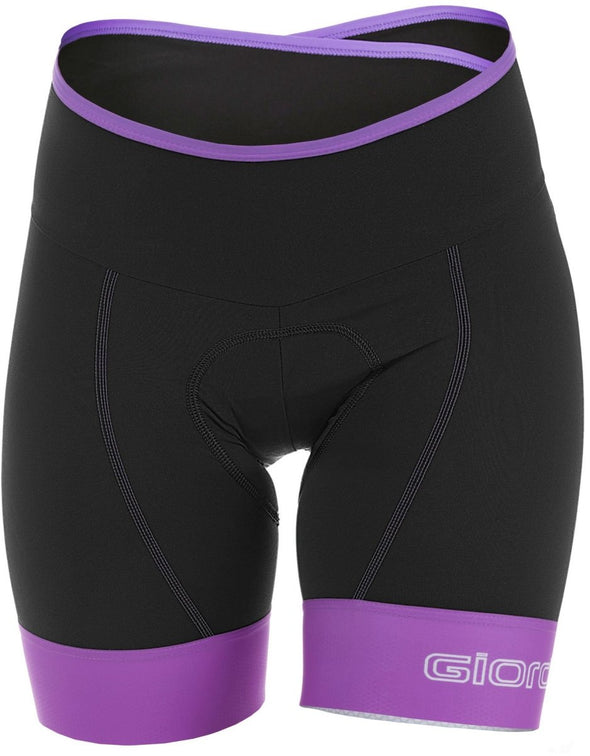 Giordana Women's Lungo Short - Black-Purple - Classic Cycling