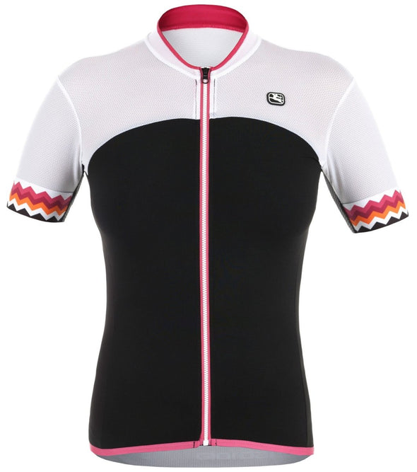 Giordana Women's Lungo Short Sleeve Jersey - Black - Classic Cycling