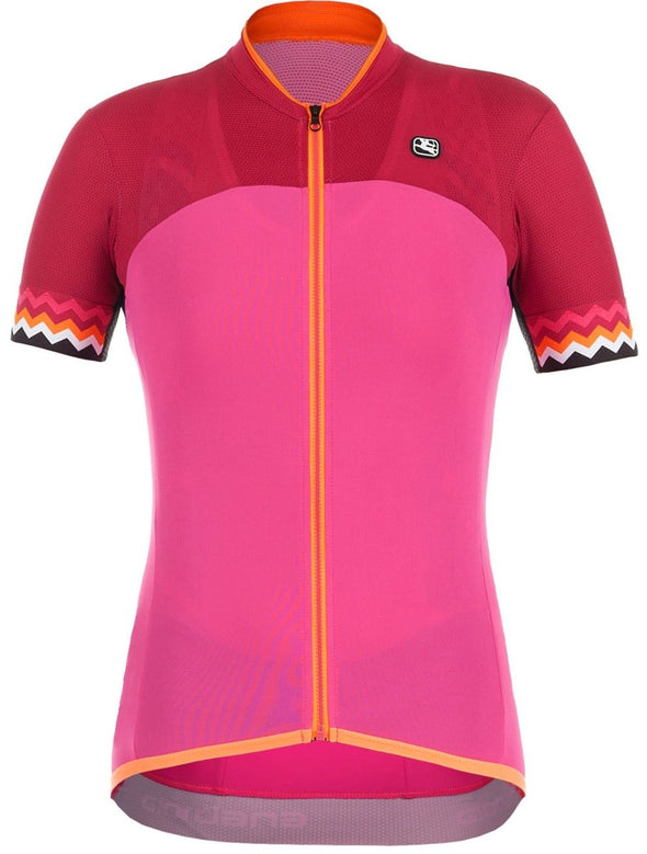 Giordana Women's Lungo Short Sleeve Jersey - Pink - Classic Cycling