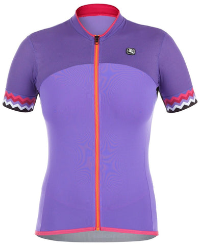 Giordana Women's Lungo Short Sleeve Jersey - Purple - Classic Cycling