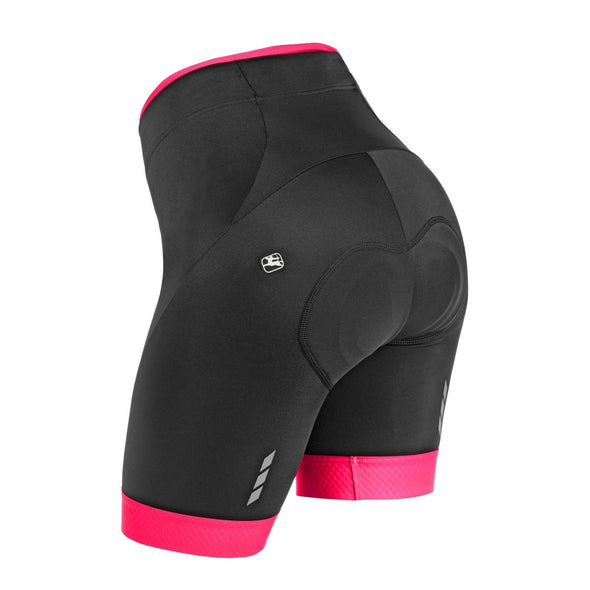 Giordana Women's Silverline Short - Black-Pink - Classic Cycling