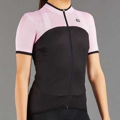 Giordana Women's SilverLine Short Sleeve Jersey - Black + Pink - Classic Cycling