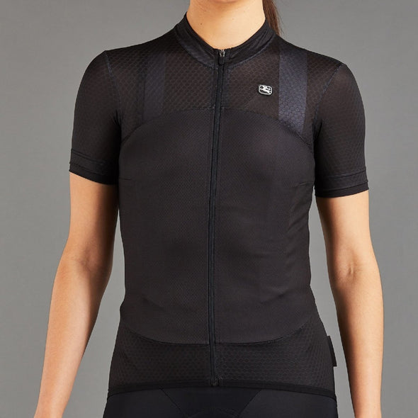 Giordana Women's SilverLine Short Sleeve Jersey - Full Black - Classic Cycling
