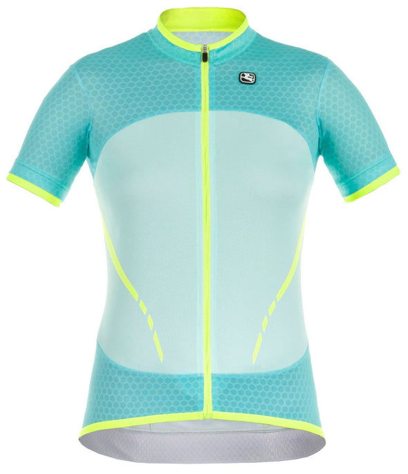 Giordana Women's SilverLine Short Sleeve Jersey - Green-Yellow - Classic Cycling
