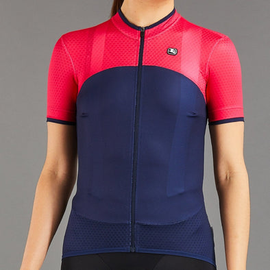 Giordana Women's SilverLine Short Sleeve Jersey - Navy + Raspberry - Classic Cycling