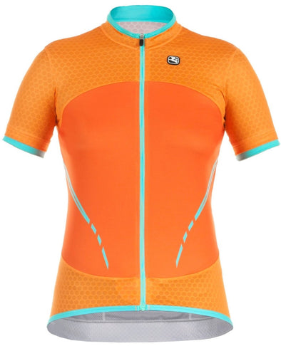 Giordana Women's SilverLine Short Sleeve Jersey - Orange - Classic Cycling