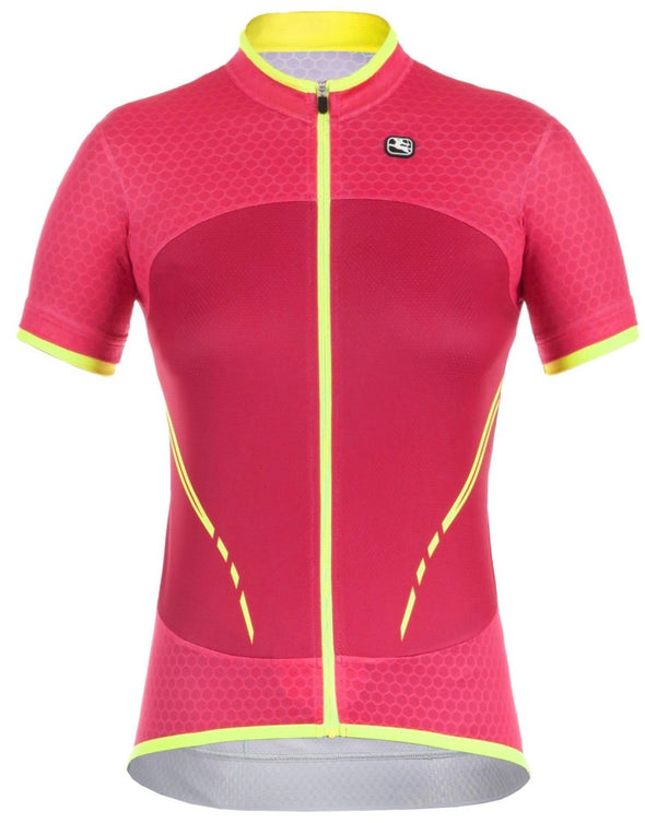 Giordana Women's SilverLine Short Sleeve Jersey - Pink - Classic Cycling