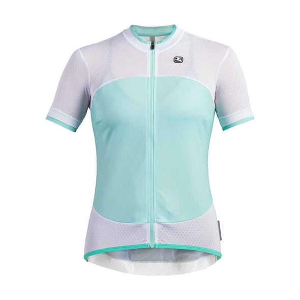 Giordana Women's Silverline Short Sleeve Jersey - White-Mint - Classic Cycling