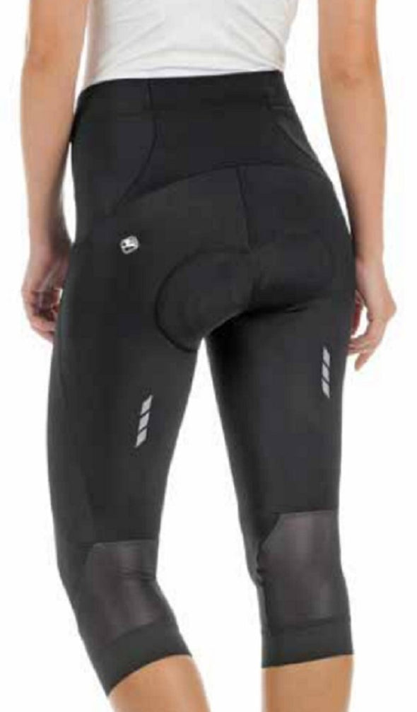 Giordana Women's Silverline Sport Knicker - Black w- White accents - Classic Cycling
