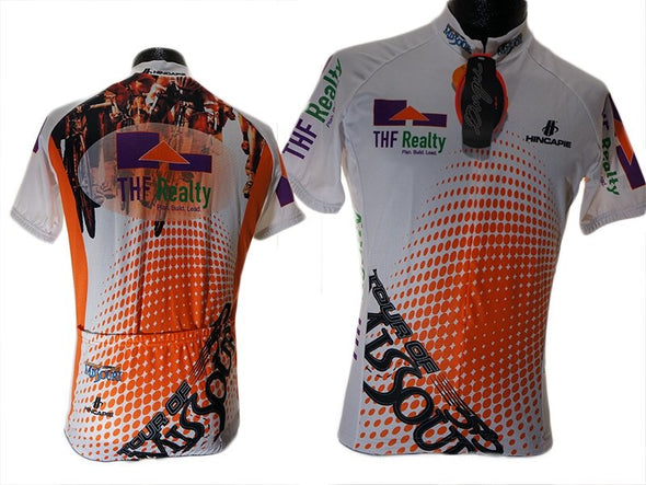 Hincapie Tour Of Missouri Cycling Jersey -White Orange - Classic Cycling