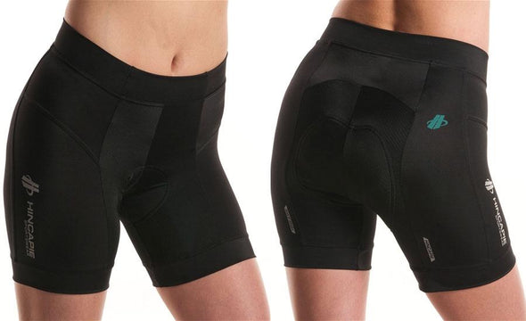 Hincapie Womens Power Shorts - Black - Classic Cycling