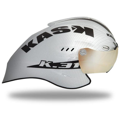 Kask K.31 TT Helmet Carbon - White - OPEN BOX - Classic Cycling