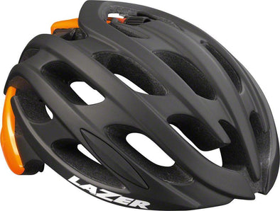 Lazer Blade Road Cycling Helmet - Matte Black-Flash Orange - Classic Cycling