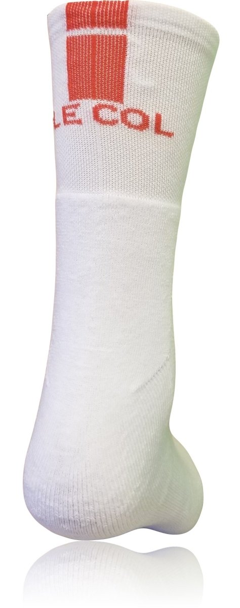 Le Col Cycling Socks White -  Red - Classic Cycling