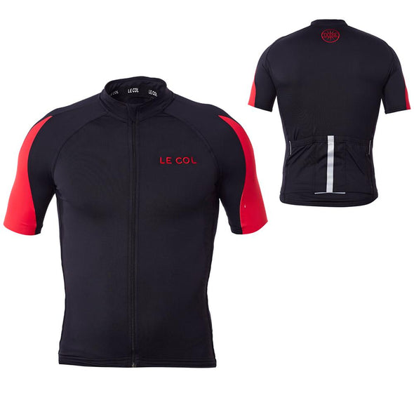 Le Col HC Cycling Jersey - Black Red - Classic Cycling