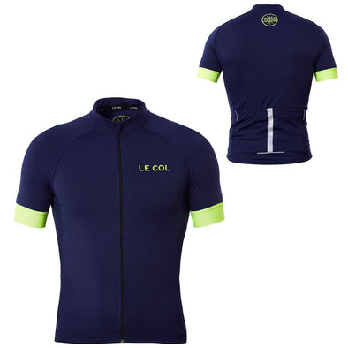 Le Col Pro Cycling Jersey - Navy Fluo - Classic Cycling