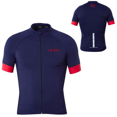 Le Col Pro Cycling Jersey - Navy Red - Classic Cycling
