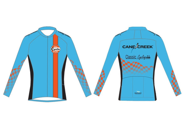 MEN'S Cycle Path Long Sleeve Summer Jersey - Classic Cycling