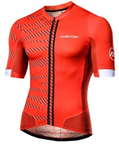 Monton Urban Selvaggio Cycling Jersey - Red - Classic Cycling