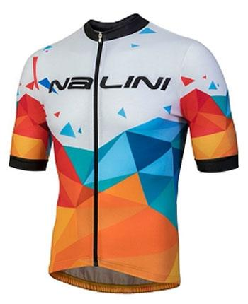 Nalini Discesa Short Sleeve Jersey - Orange-White - Classic Cycling