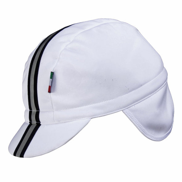 Nalini Giustino Windproof Thermal Cap White - Classic Cycling